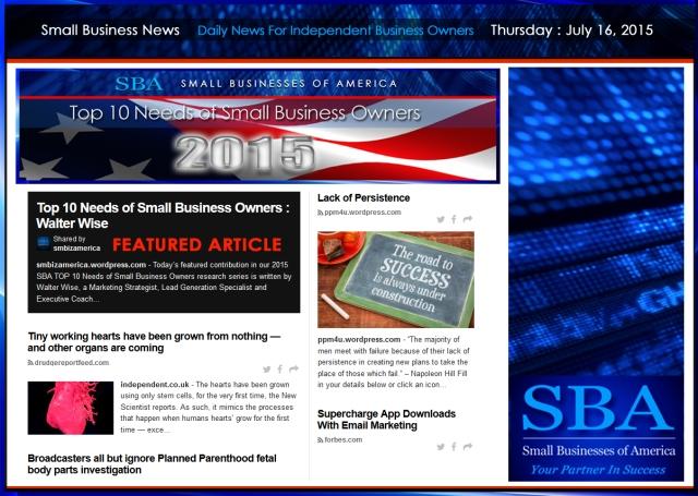 Small Business News 07162015 SMBIZ AMERICA SMBIZ SMBIZ NEWS