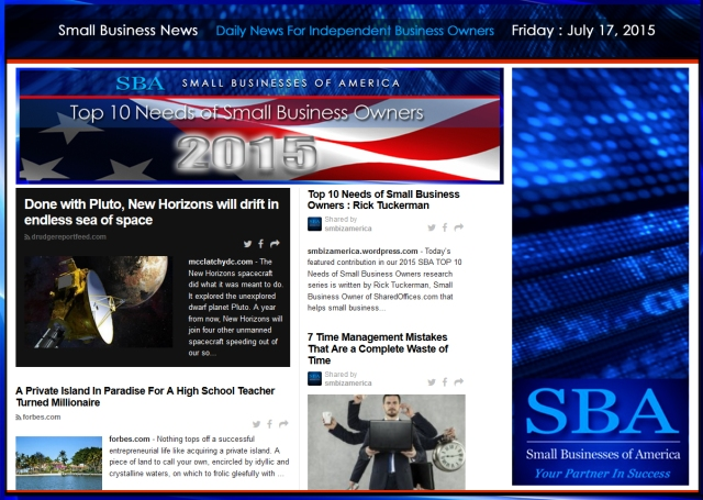 Small Business News 07172015 SMBIZ AMERICA #smallbusiness #smbiz