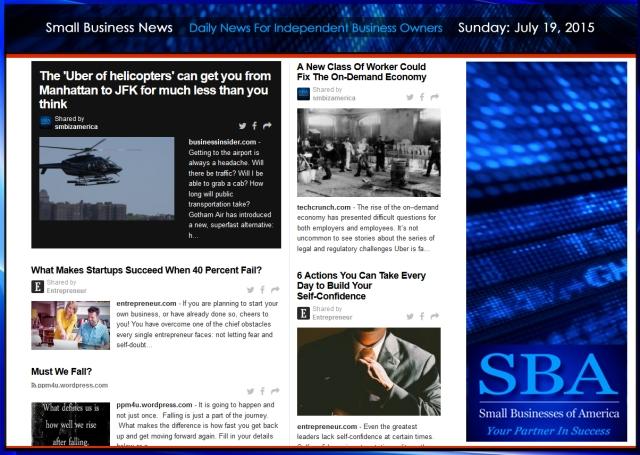 Small Business News 07192015 SMBIZ AMERICA #smallbusiness #smbiz #startup