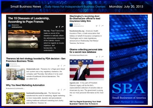 Small Business News 07202015 SMBIZ AMERICA #smallbusiness #smbiz #startup