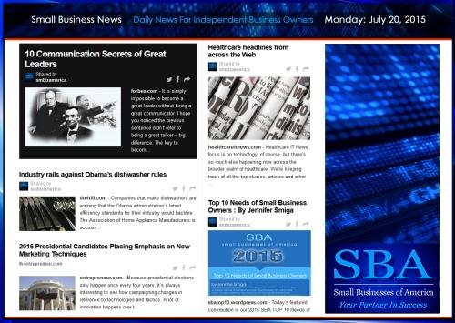 Small Business News 07212015 SMBIZ AMERICA 2015 smbiz smbizamerica news