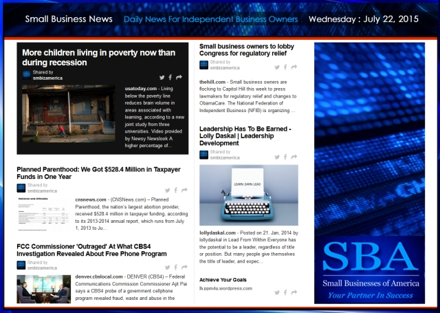 Small Business News 07222015 #smbiz #smallbusiness #news #america