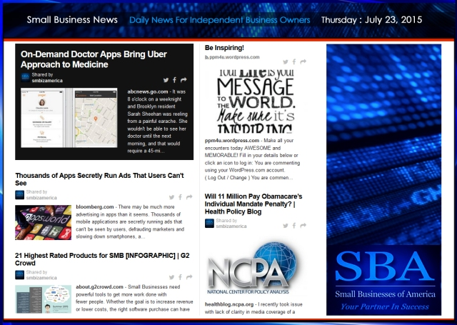Small Business News 07232015 #smbiz #smallbusiness #news #america