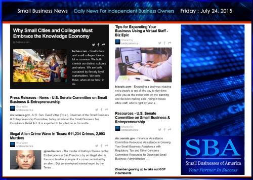 Small Business News 07242015 SMBIZ AMERICA #smallbusiness #smbiz #america