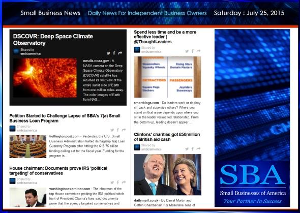 Small Business News 07252015 SMBIZ AMERICA #smallbusiness #smbiz #america