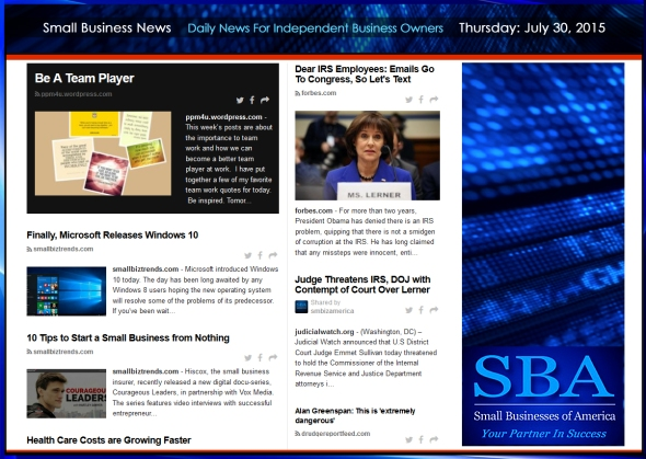Small Business News 07302015 #smallbusiness #smbiz #america #news