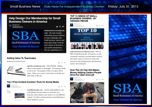 Small Business News 07312015 #uber #smbiz #news #trending #smbizamerica