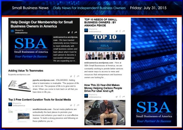 Small Business News 07312015 #uber #smbiz #news #trending #smbizamerica