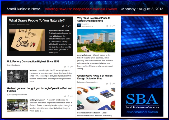 Small Business News 08032015 #TECH #BUSINESS #STARTUPS #SMBIZ #NEWS #SMBIZAMERICA #GOOGLE #LIFESTYLE