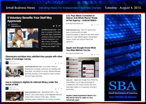 Small Business News 08042015 #smallbusiness #smbiz