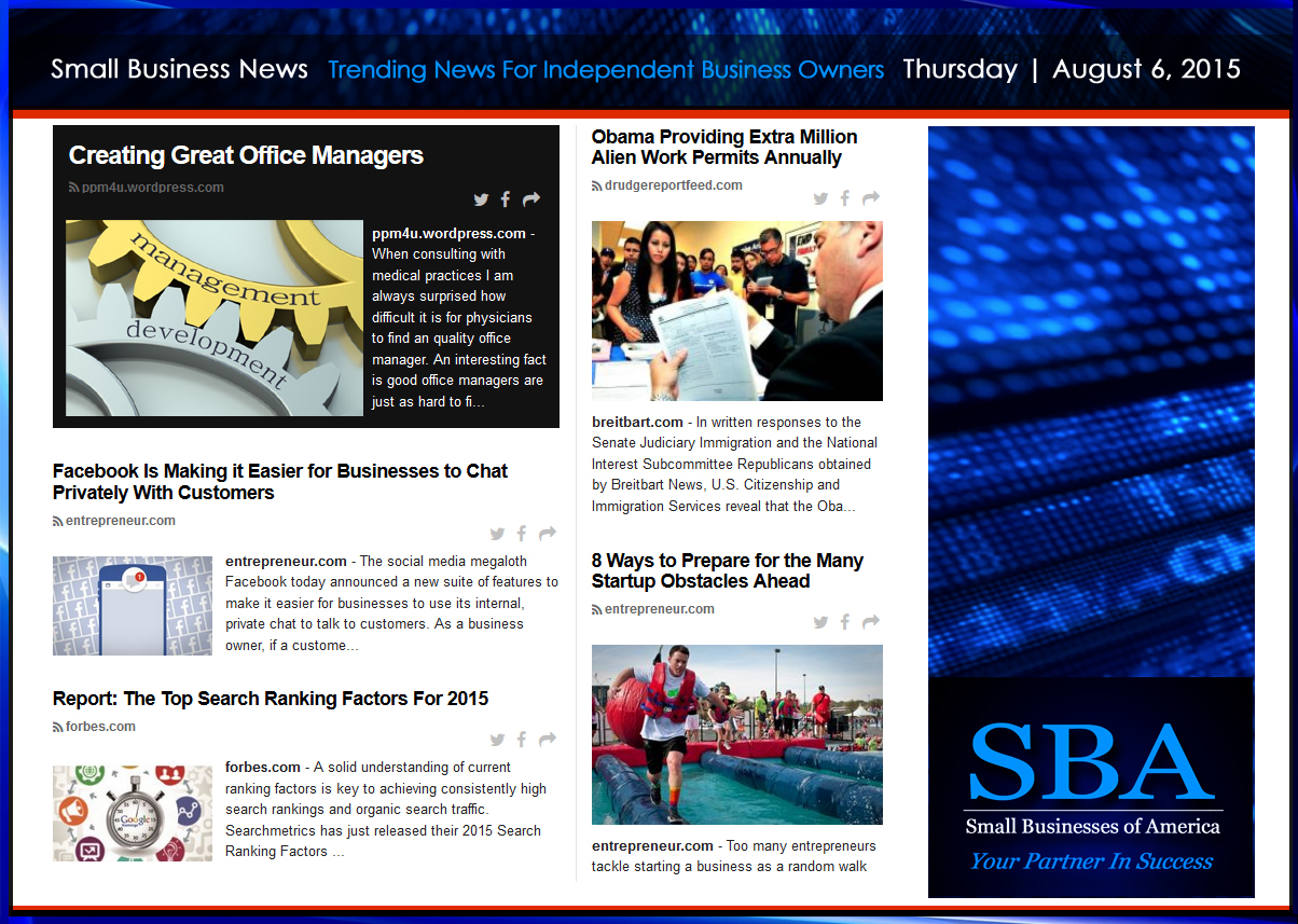 Trending Small Business News | Thursday August 6, 2015 ...