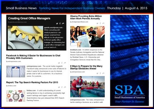 Trending Small Business News 08062015 #smallbusiness #smbiz #smb #smallbiz