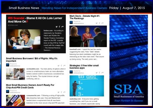 Trending Small Business News 08072015 #smallbusiness #smbiz #smb #smallbiz #smbiznation #fridayreads