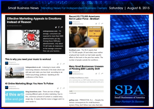 Trending Small Business News 08082015 #smallbusiness #smbiz #smb #smallbiz #smbiznation #nojustice