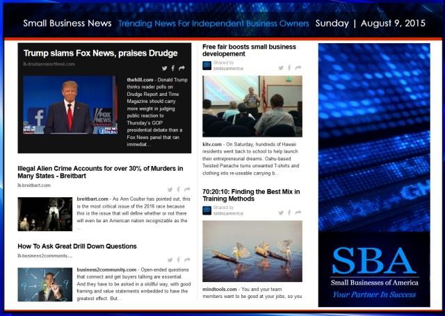 Trending Small Business News 08092015 #smallbusiness #smbiz #smb #smallbiz #trump