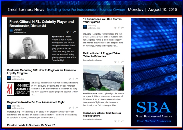 Trending Small Business News 08102015