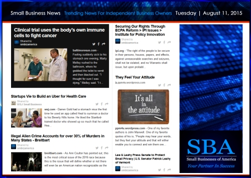 Trending Small Business News 08112015