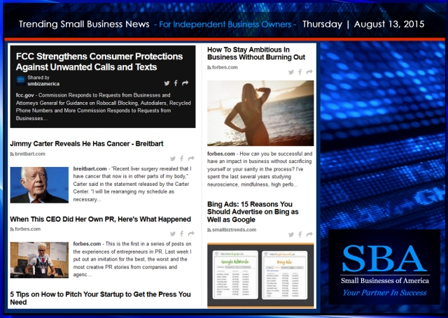 Trending Small Business News 08132015