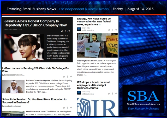 Trending Small Business News 08142015