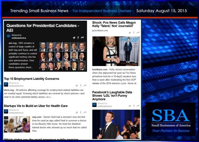 Trending Small Business News 08152015