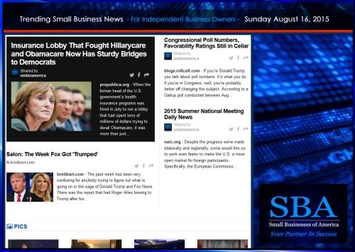 Trending Small Business News 08162015