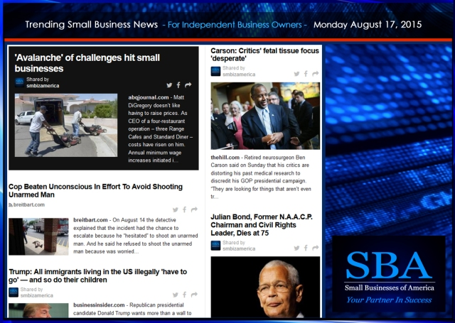 Trending Small Business News 08172015