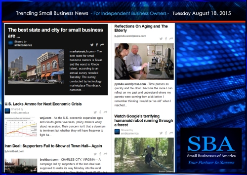 Trending Small Business News 08182015