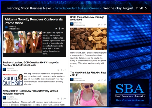 Trending Small Business News 08192015