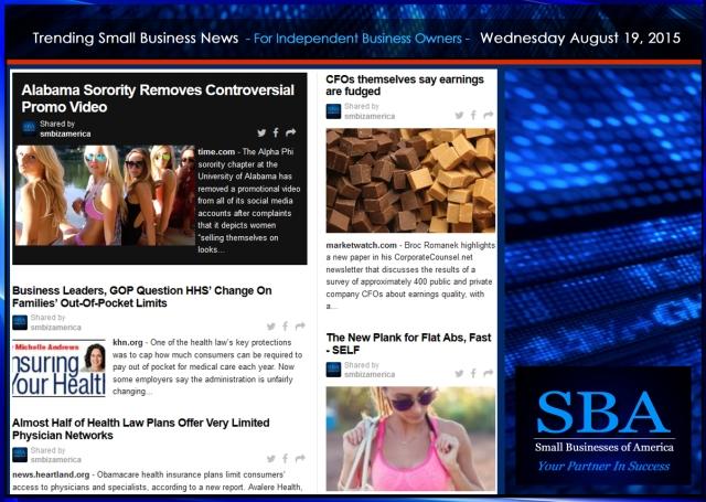 Trending Small Business News 08192015