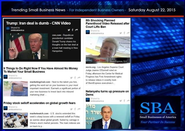 Trending Small Business News 08222015