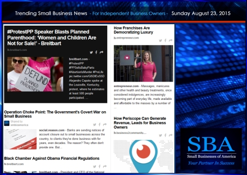 Trending Small Business News 08232015