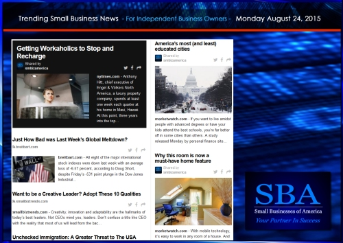 Trending Small Business News 08242015