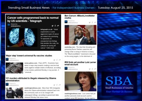 Trending Small Business News 08252015