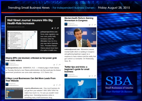 Trending Small Business News 08282015
