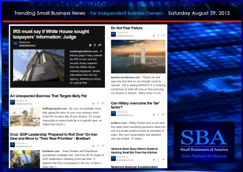 Trending Small Business News 08292015