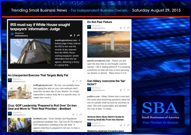 Trending Small Business News 08292015