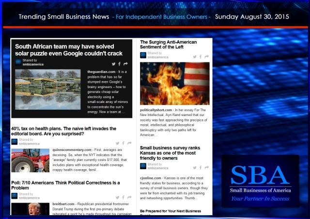 Trending Small Business News 08302015