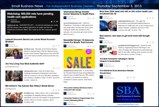 Small Business News 09032015