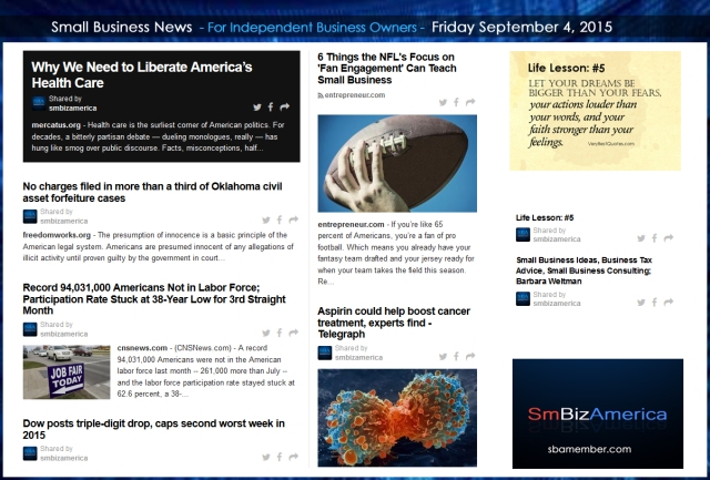 Small Business News 09042015