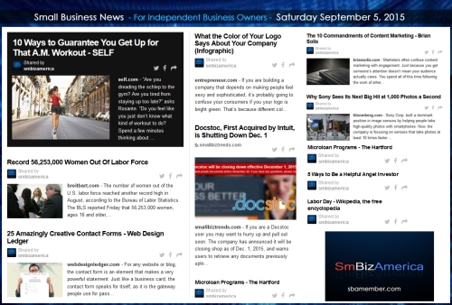 Small Business News 09052015