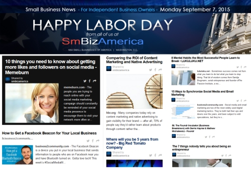 Small Business News 09072015