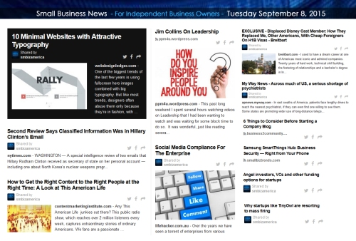 Small Business News 09082015