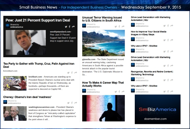 Small Business News 09092015