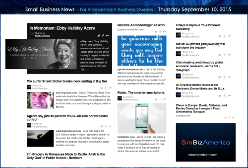 Small Business News 09102015