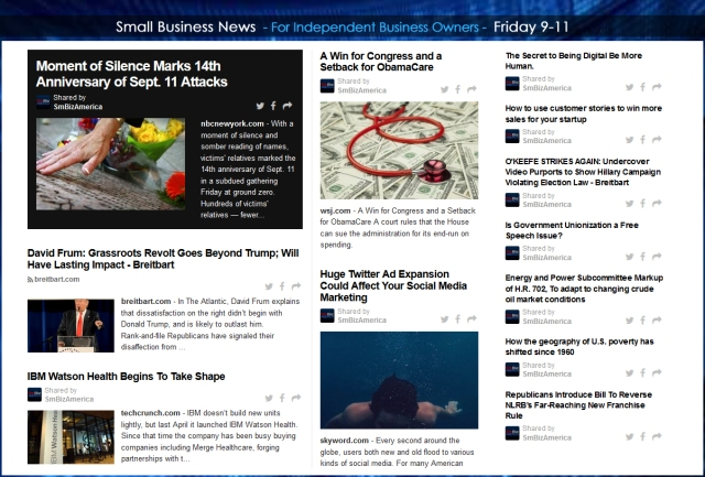 Small Business News 09112015