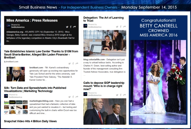 Small Business News 09142015