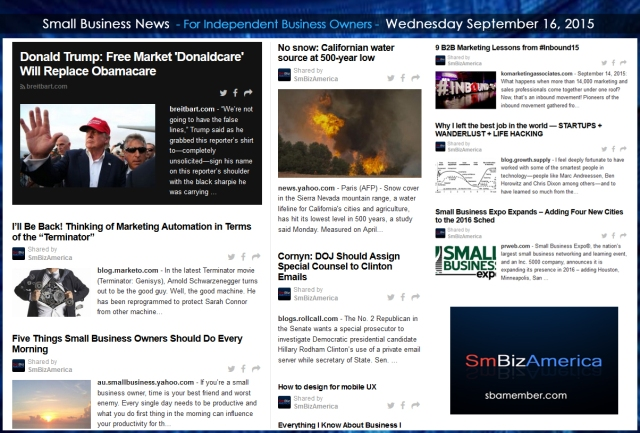 Small Business News 09162015
