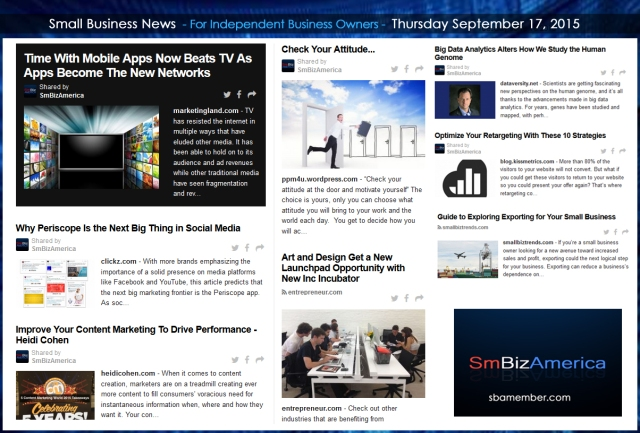 Small Business News 09172015