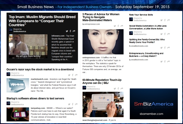 Small Business News 09192015