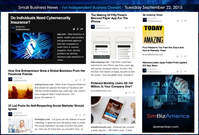 Small Business News 09222015